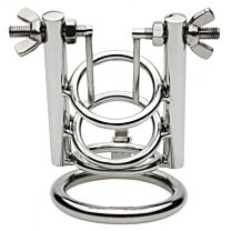 Master Series Stainless Steel Urethral Spreader CBT Chastity Cage 1