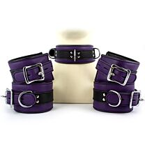 UberKinky Five Piece Purple Locking Restraints Set 1