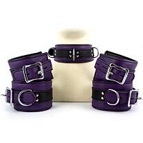 UberKinky Five Piece Purple Locking Restraints Set 1