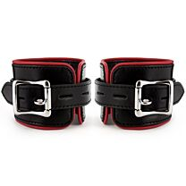 UberKinky Heavy Duty Padded Saddle Leather Wrist Restraints 1