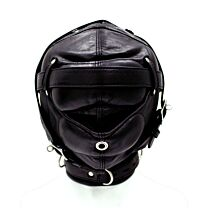 UberKinky Sensory Deprivation Leather Bondage Hood 1