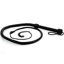 UberKinky Saddle Leather Single Tail Long Whip 65 inches