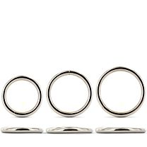 Master Series Trine Steel Cock Ring Collection 1