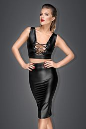 Muse Powerwetlook Pencil Skirt with Long Zipper 1