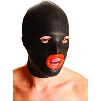 M&K Rubber Hood With Red Lips 1