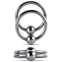 UberKinky Double Glans Ring With Duo Ball 1