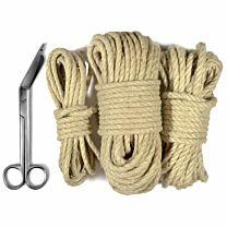 Uberkinky Hemp Bondage Rope Bundle (5m, 10m & 20m) 1