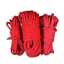 Uberkinky Red Cotton Bondage Rope Bundle 1