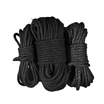 Uberkinky Black Bondage Rope Bundle 1