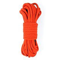 UberKinky Braided Cotton Bondage Rope Neon Orange 32ft 10m 1