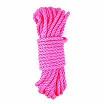 UberKinky 3 Strand Multifilament Bondage Rope Neon Pink 32ft 10m 1