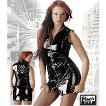 Black Level Sleeveless PVC Mini Dress 1
