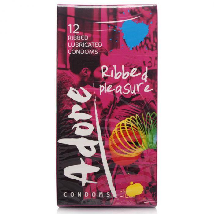 Pasante Adore Ribbed Condoms Condoms Uberkinky