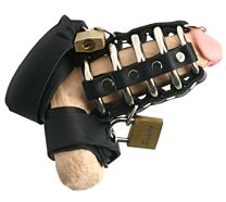 Strict Leather Gates Of Hell Chastity Cage