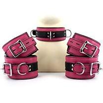 UberKinky Five Piece Pink Locking Restraints Set 1