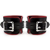 UberKinky Heavy Duty Padded Saddle Leather Wrist Restraints 1