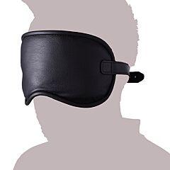 Large Padded Leather Blindfold 1
