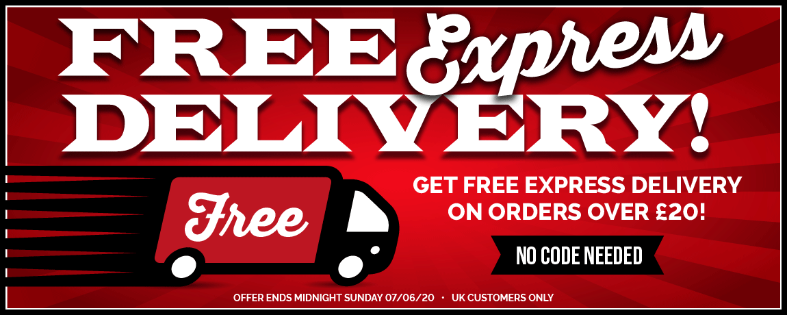 Free Express Delivery On Orders Over £20