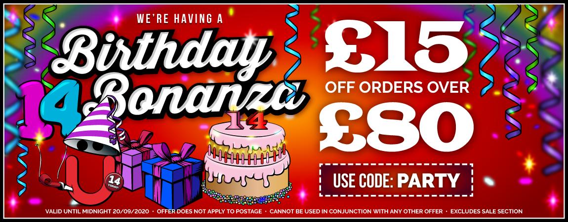 Get £15 Off Orders Over £80