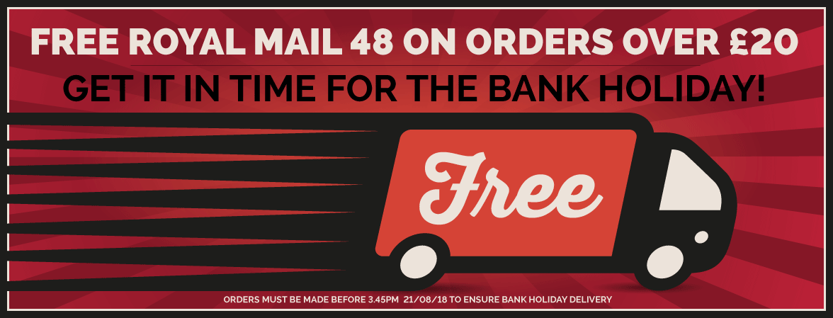 Free Royal Mail 48 Delivery On Orders Over £20