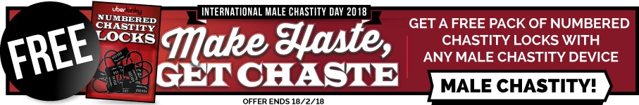 Receive A Free Pack Of Numbered Chastity Locks With Any Male Chastity Device