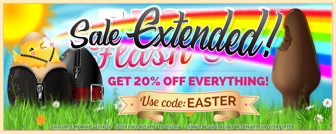 Easter Sale - 20% Off Everything At UberKinky