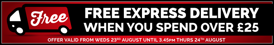 Free Express Delivery On Orders Over £25