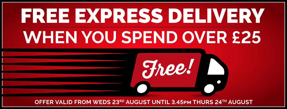 Free Express Delivery When You Spend Over £25