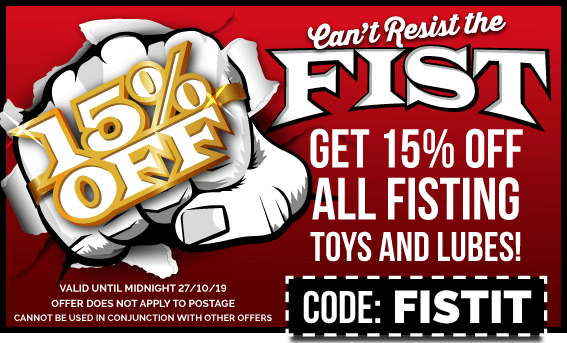 15% Off Fisting Toys & Lubes
