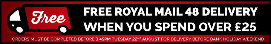 Free Royal Mail 48 Delivery When You Spend Over £25