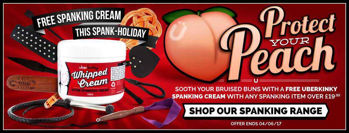 Free spanking cream when you buy any impact item over £19.99