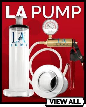 LA Pump range of vacuum pumps and penis pumps