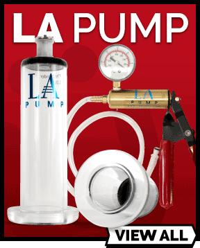 LA Pump range of vacuum pumps and penis pumps