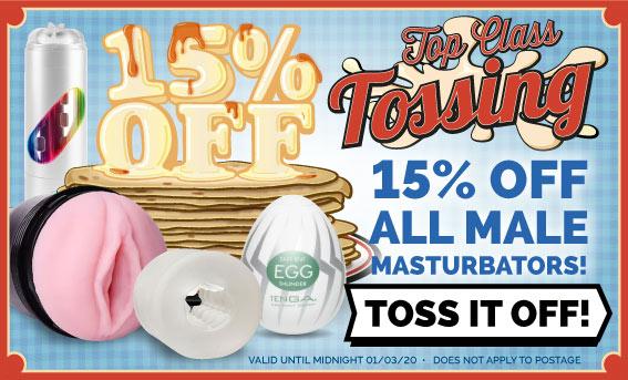 Tossers Get 15% Off Male Masturbators For Pancake Day
