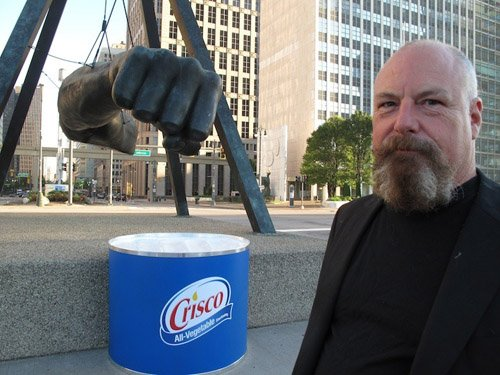Crisco is the best fisting lube - Art installation by Jerry Vile