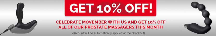 10% off all prostate massagers on UberKinky