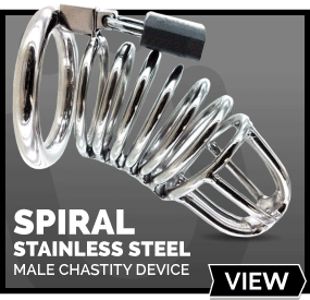Spiral Stainless Steel Chastity Device