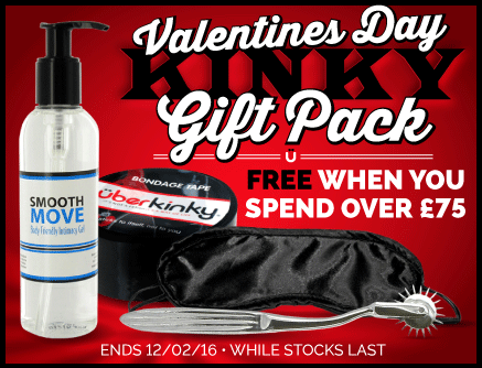 Free UberKinky Valentine's Day Kinky Gift Pack when you spend over £75