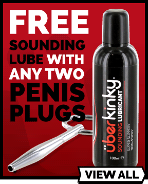 Free Uberkinky Lube When You Buy 2 Penis Plugs