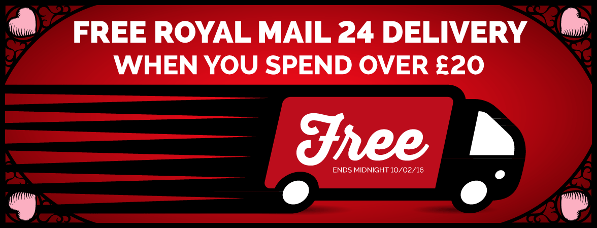 Free Royal Mail 24 Delivery when you spend over £20
